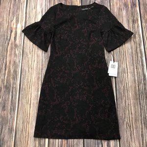 Ivanka Trump Bell Sleeve Black Lace Sheath Dress